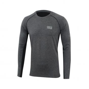 HUUB DS Training langarm Top Herren - grau