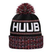 HUUB Bommelmütze Unisex - schwarz/weiß/rot